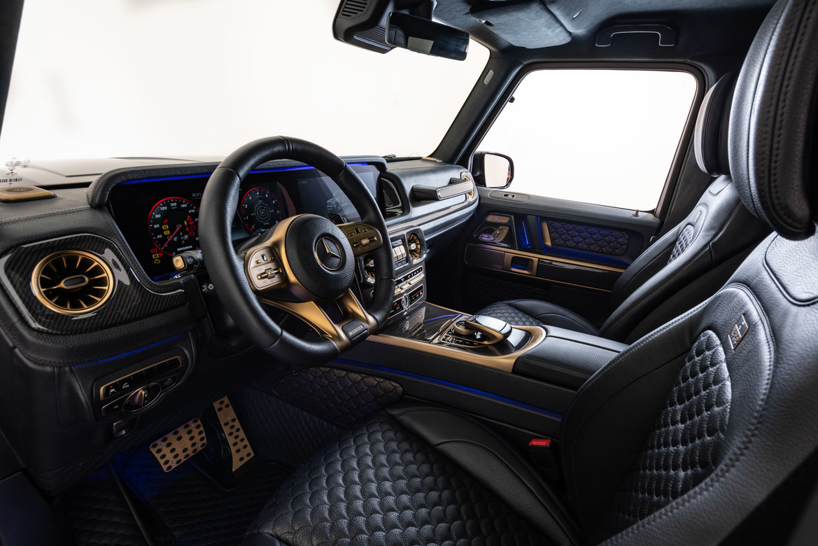 BRABUS 800 BLACK _ GOLD EDITION - Mercedes-AMG G 63-front-
