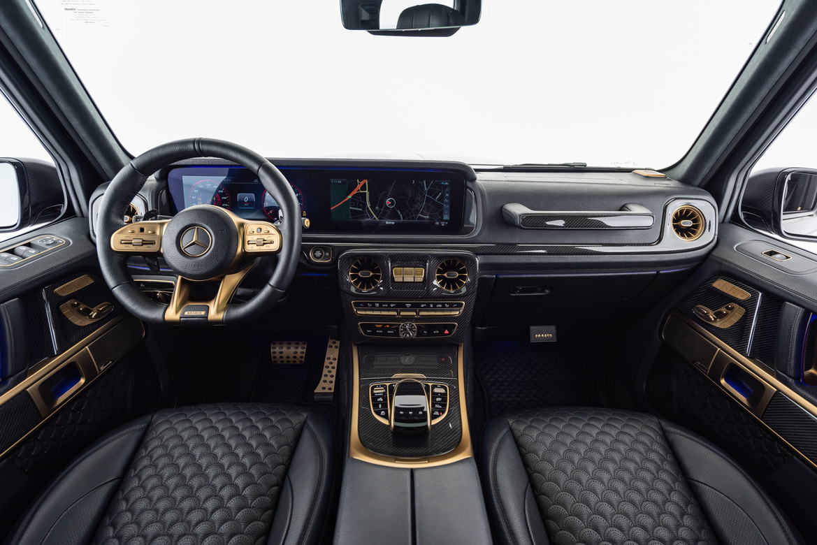 BRABUS 800 BLACK _ GOLD EDITION - Mercedes-AMG G 63-front Interieur